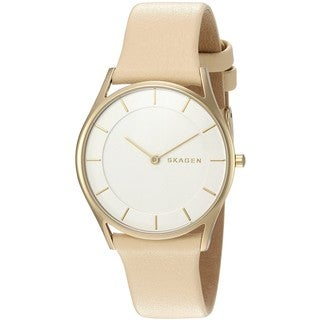Skagen Women's SKW2452 'Holst' Beige Leather Watch