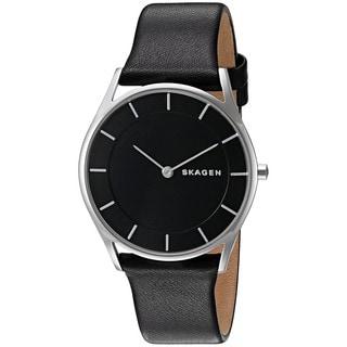 Skagen Women's SKW2454 'Holst' Black Leather Watch