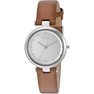 Skagen Women's SKW2458 'Tanja' Crystal Brown Leather Watch