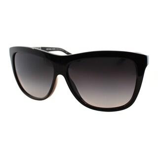 Michael Kors Women's Benidorm Black Plastic Square Sunglasses