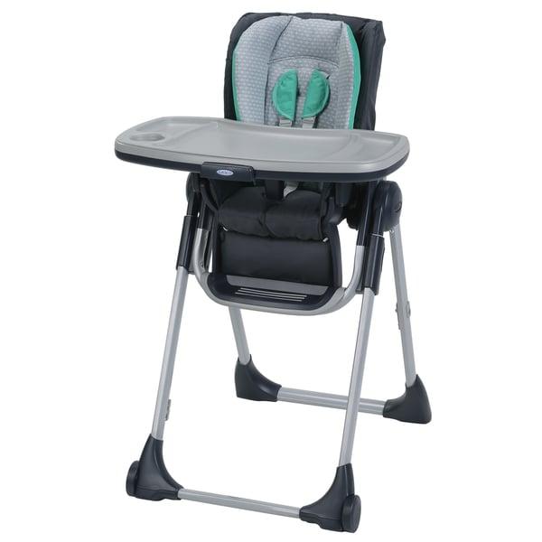 Graco Swift Fold Green, Grey, Off-white Plastic LX Highchair