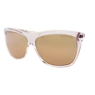 Michael Kors Women's Benidorm Rose Gold Crystal Plastic Square Sunglasses