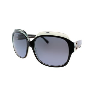 Michael Kors Women's Crete MK 6002B 300117 Black/Blue Plastic Square Sunglasses