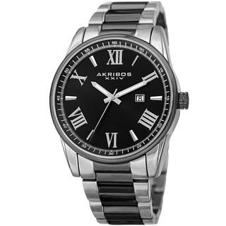 Akribos XXIV Men's Quartz Date Stainless Steel Two-Tone Bracelet Watch