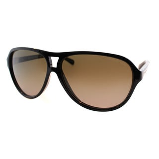 Michael Kors Women's Wainscott MK 6008 300913 Black And Dark Tortoise Plastic Aviator Sunglasses