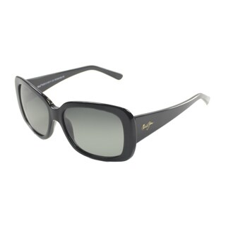 Maui Jim Womens Lani GS239-02 Gloss Black Plastic Fashion Polarized Sunglasses