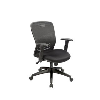 Tetra Black Fabric and Metal Mesh Adjustable Swivel Office Chair