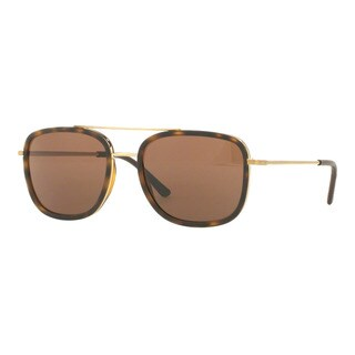 Burberry Men's BE3085Q 11675W Gold Metal Square Sunglasses