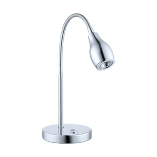 Eglo Naira Chrome-finish Metal/Glass LED Table Lamp