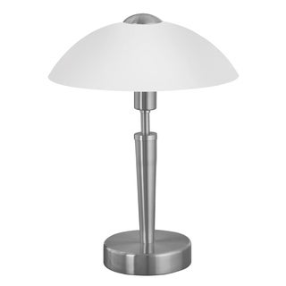 Eglo Solo1 Off-white Glass Shade Nickel Table Lamp