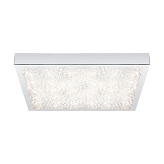 Cardito Chrome Finish With Clear Crystal 17-inch Flush Mount LED Ceiling Light