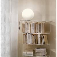 Eglo Rondo Silver-finish and Opal Glass Table Lamp