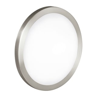 Eglo Arezzo Nickel Finish Frosted Glass 60-watt Ceiling Light