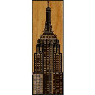 Benjamin Parker 'Empire State Building' 16 x 48-inch Wood Relief Wall Art