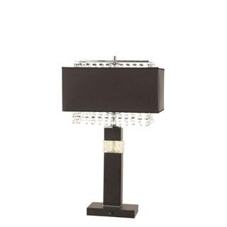 Contemporary Black Rectangle Table Lamp (2 Lamps Per Box)