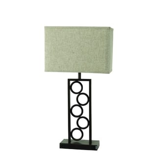 Bronze Finish and Green Shade Table Lamp (2 Lamps Per Box)