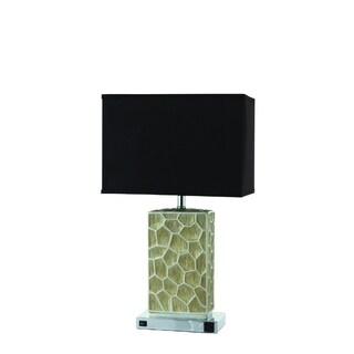 Nova Black and Beige Rectangular Metal Table Lamp (Set of 2)