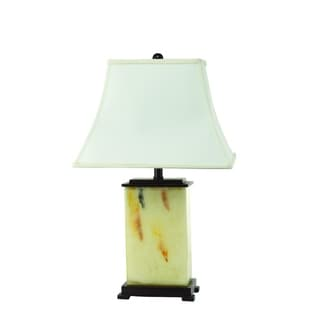 Tan Glass Rectangle Table Lamp (2 Lamps Per Box)
