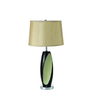 Nova Ceramic Black and Green Table Lamp (Set of 2)
