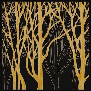 Benjamin Parker 'Trees II' Wood Relief Wall Art