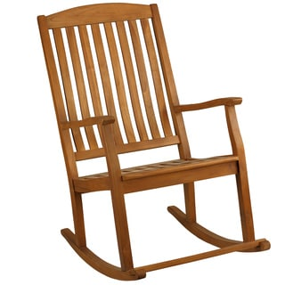 Bare Decor Large Teak Wood Rocking Chair