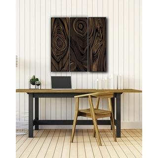 Benjamin Parker 'Follow the Pattern' Triptych Wood Relief Wall Art