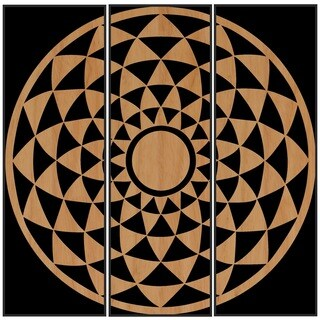 Benjamin Parker 'Spinning' Triptych Wood Relief Wall Art