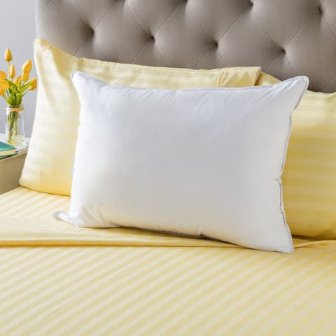 Extra Firm Cambric Cotton White Feather Pillow