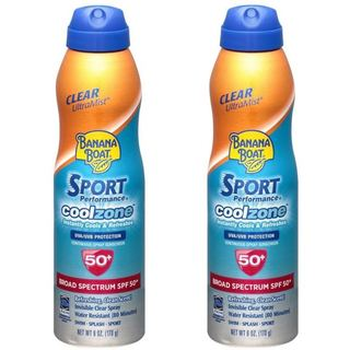 Banana Boat Sport Performance Cool Zone Broad Spectrum SPF 50 6-ounce Sunscreen Spray (Pack of 2)