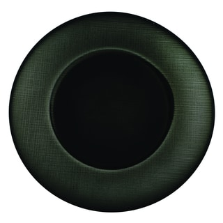 Lorren Home Trends Black Glass Charger Plates (Pack of 4)
