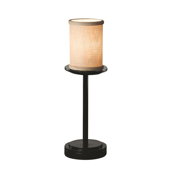 Justice Design Group Textile Dakota Tall Matte Black Table Lamp