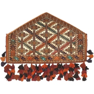 eCarpetGallery Shiravan Bokhara Ivory/Cream/Brown Wool Hand-Knotted Trapping (2' x 3')
