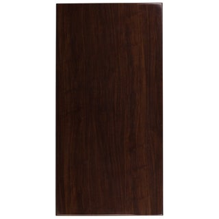 """30"""" x 60"""" Rectangular High-Gloss Walnut Resin Table Top with 2"""" Thick Edge - 30""""W x 60""""D x 2""""H"""