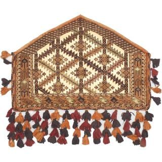 eCarpetGallery Shiravan Bokhara Multi-color Wool Hand-knotted Trapping (2'7 x 3'9)