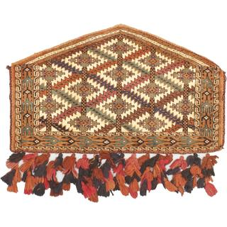 eCarpetGallery Shiravan Bokhara Cream/Copper/Navy/Teal/Light Brown Wool Hand-knotted Trapping (2'3 x 3'8)