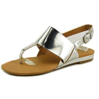 Franco Sarto Women's Gesso Silver Synthetic Sling-back Sandals