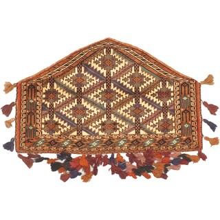 eCarpetGallery Shiravan Bokhara Ivory/Orange Wool Hand-Knotted Trapping (2'3 x 3'6)