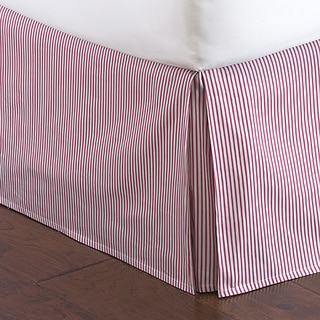Hot Pink and Grey Striped Bed Skirt