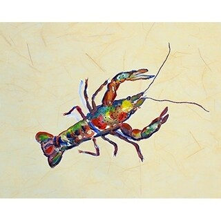 Multicolor Polyester Crayfish B Place Mat (Set of 4)