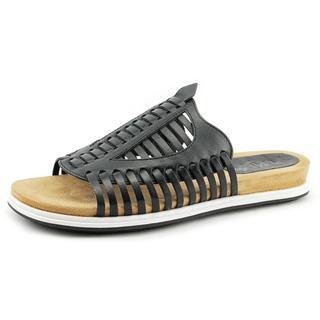 Naya Women's Kicker Black Leather Sandals