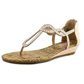 Dolce by Mojo Moxy Women's Fantasia Tan Faux Suede Low Heel Strappy Sandals