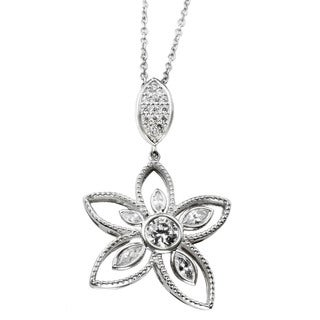 One-of-a-kind Michael Valitutti Cubic Zirconia Flower Pendant