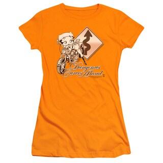 Boop/Dangerous Curves Junior Sheer in Orange