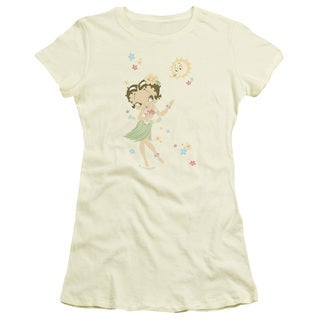 Boop/Hula Flowers Junior Sheer in Cream