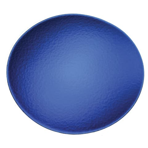 Lorren Home Trends Blue Glass Charger Plate (Set of 4)