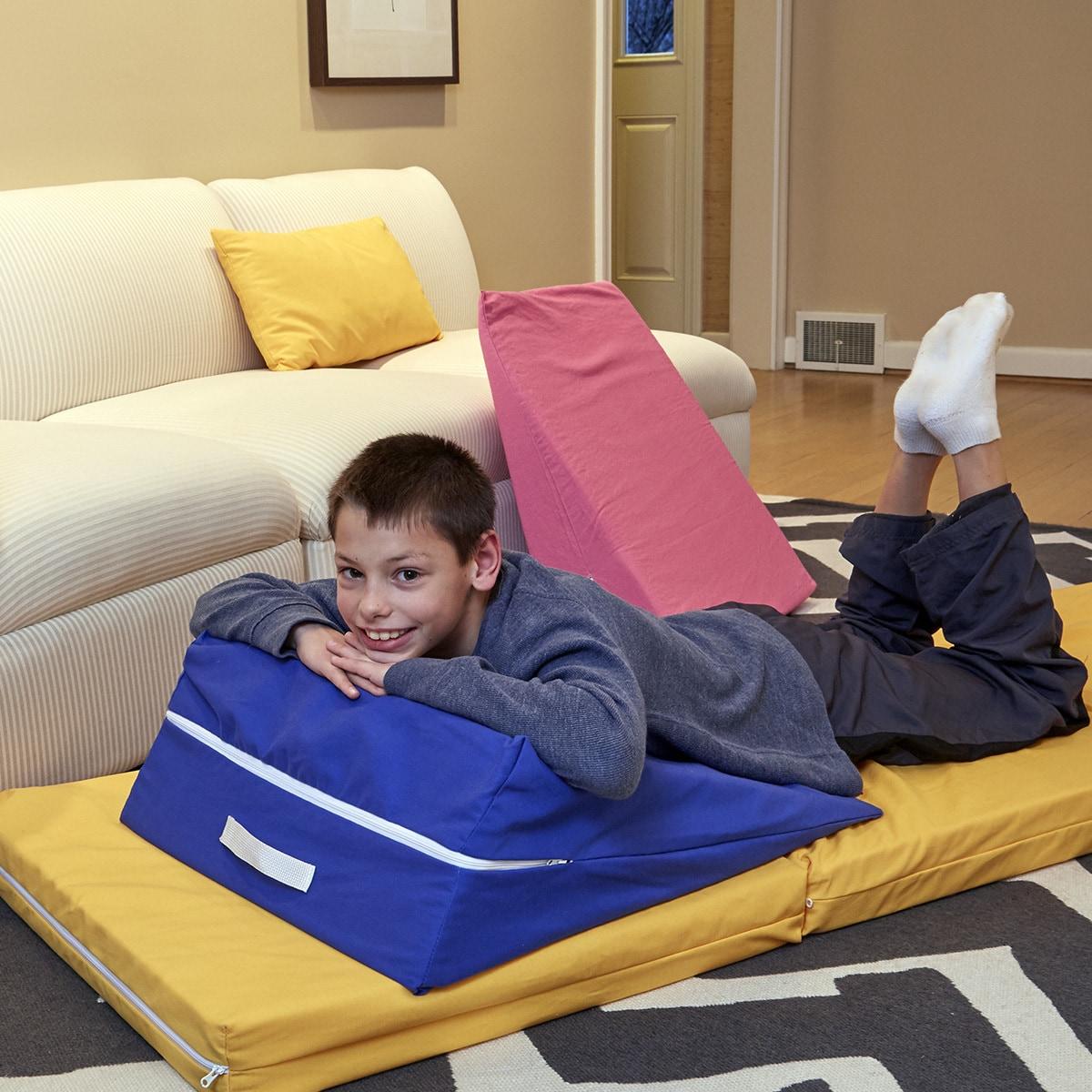 Royal Blue Kids' Wedge Lounge Cushion (Kids' Wedge Cushio...