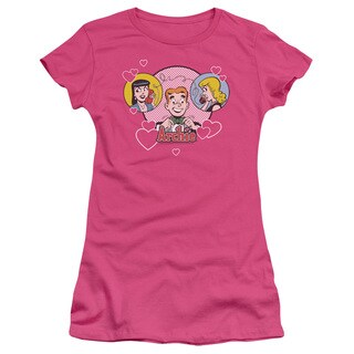 Archie Comics/Two Is Better Junior Sheer in Hot Pink