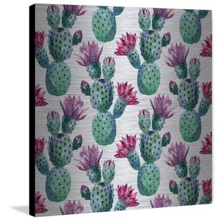 Marmont Hill 'Falling Cactus' Painting Print on Brushed Aluminum