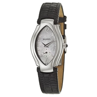 Balmain Men's Black Leather Watch