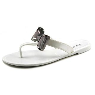 Qupid Women's 'Getty 04A' White Synthetic Sandals
